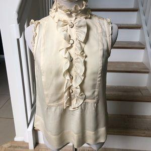 Carolina Herrera ivory silk blouse. Size 6